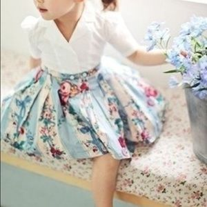 Other - Girls Floral Pleated Dress w/Attached White Blouse